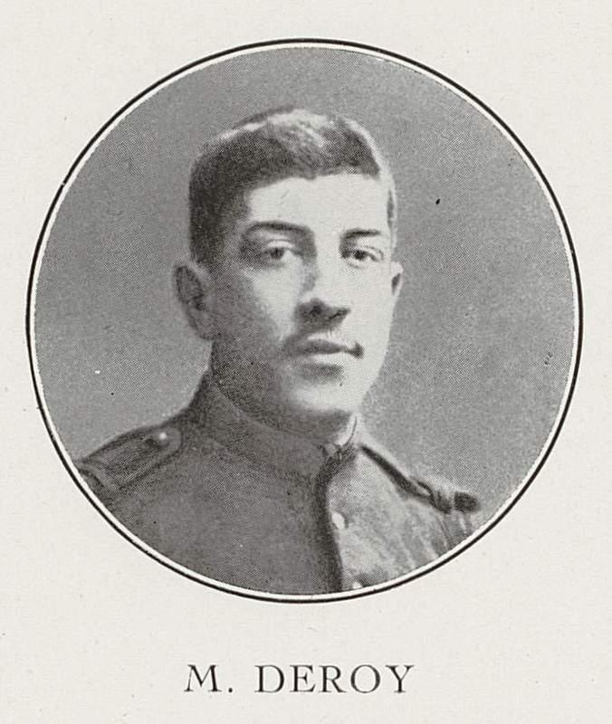 Maurice Deroy (26 septembre 1890-28 août 1914)