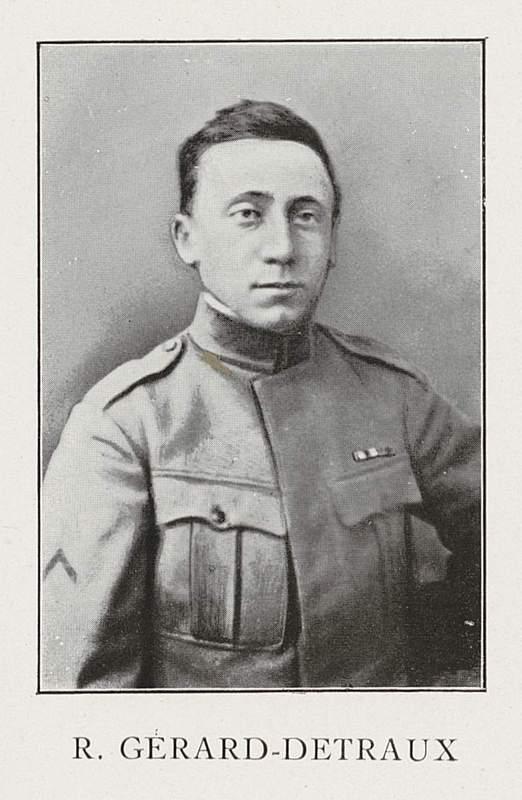 Robert Gérard-Detraux (9 mars 1895-12 septembre 1917)